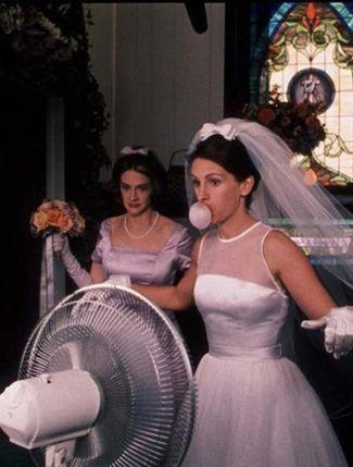 From Runaway Bride... the Fed Ex wedding dress