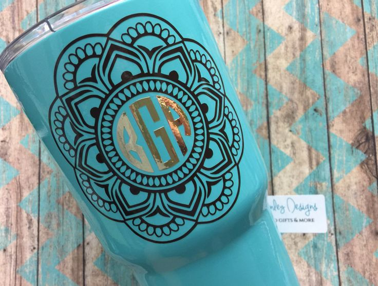 A personal favorite from my Etsy shop https://www.etsy.com/listing/452739604/mandala-monogram-yeti-cup-decalsticker