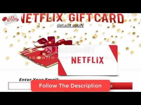 How to get free  100 Netflix gift card Codes - How to get Netflix accoun...