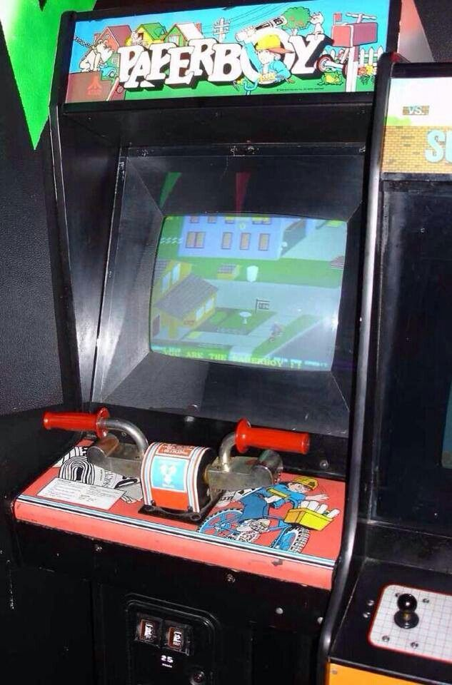 Image result for paperboy atari arcade machine that you sat on