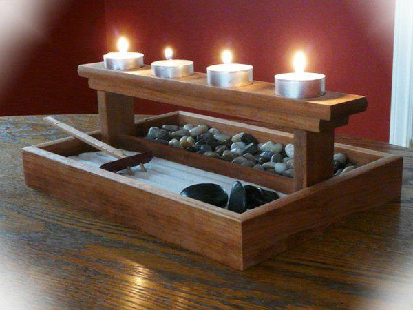 décoration zen bougies | Choisir une jardin zen miniature pour relaxer