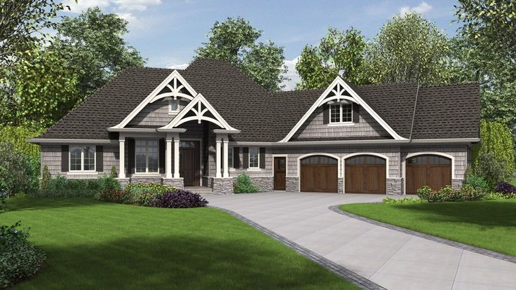 Third Car Bay Addition to the RIpley. Plan 1248B The Vasquez is a 2301 SqFt Craftsman, Ranch style home plan featuring Bonus Room, Mud Room , Office, Outdoor Fireplace, Outdoor Living Room, Storage, Walk-In Pantry, and Wood Truss Gables by Alan Mascord Design Associates. View our entire house plan collection on Houseplans.co.