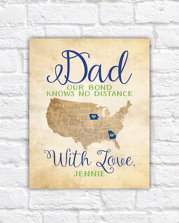 Gift For Dad Fathers Day Gifts Long Distance Father And