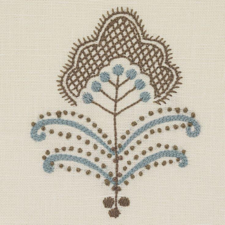 Chelsea textiles mogul flower by neisha crosland hand
