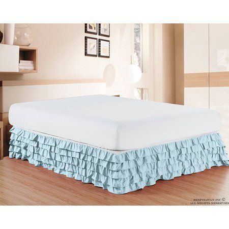 Free Shipping. Buy Elegant Comfort Luxurious Premium Quality 1500 Thread Count Wrinkle and Fade Resistant Egyptian Quality Microfiber Multi-Ruffle Bed Skirt - 15inch Drop, Twin, Aqua Blue at Walmart.com