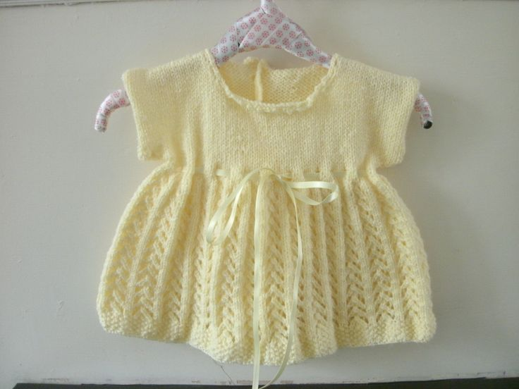 knitted dress in lace stitch