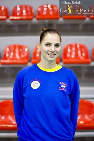 La palleggiatrice azzurra Francesca Ferretti durante un allenamento del Rabita Baku