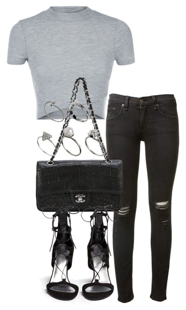 """pub outfits"" by tyra482 ❤ liked on Polyvore featuring rag & bone, Chanel, ASOS and Stuart Weitzman"
