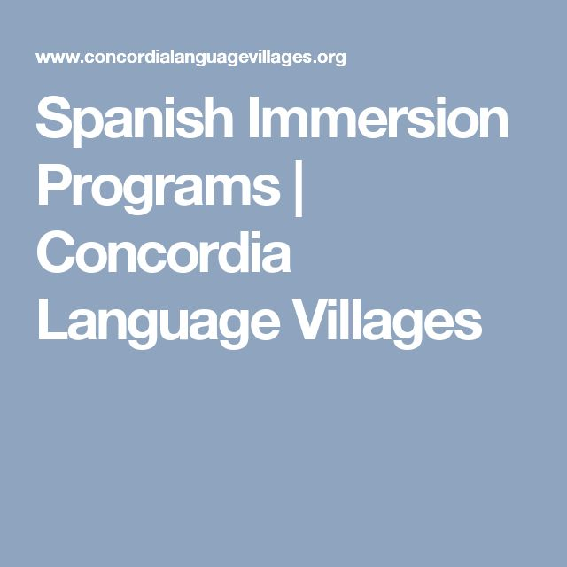 Spanish Immersion Programs | Concordia Language Villages
