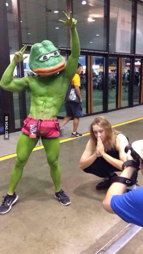 Rare Pepe Cosplay