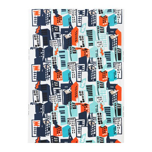 GITTE Fabric IKEA for pillow covers Might help make transition from current to blue/gray scheme