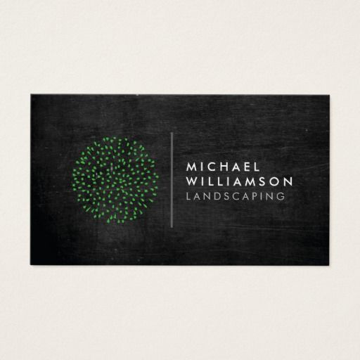 233 best gardening business cards images on pinterest carte de modern gardener landscaping logo on black wood business card accmission Image collections
