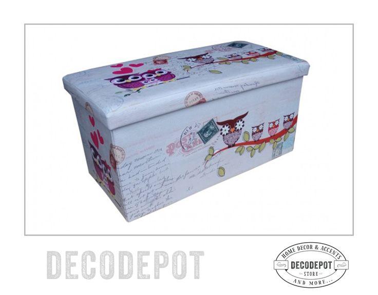 Cutie pentru depozitare sau pentru oferit un cadou cu temă de bufniţe. Gift box and storage box. Owl theme. Gift. DecoDepot. Braşov. România. Shop Online.