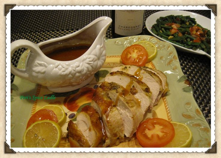 An Indian-inspired Thanksgiving Spiced Butter Turkey and Nutty Green Beans