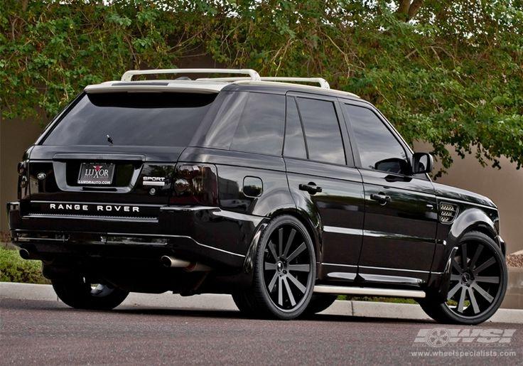 "2010 Land Rover Range Rover Sport with 24"" Gianelle Santo-2SS in Matte Black (Black lip) wheels"