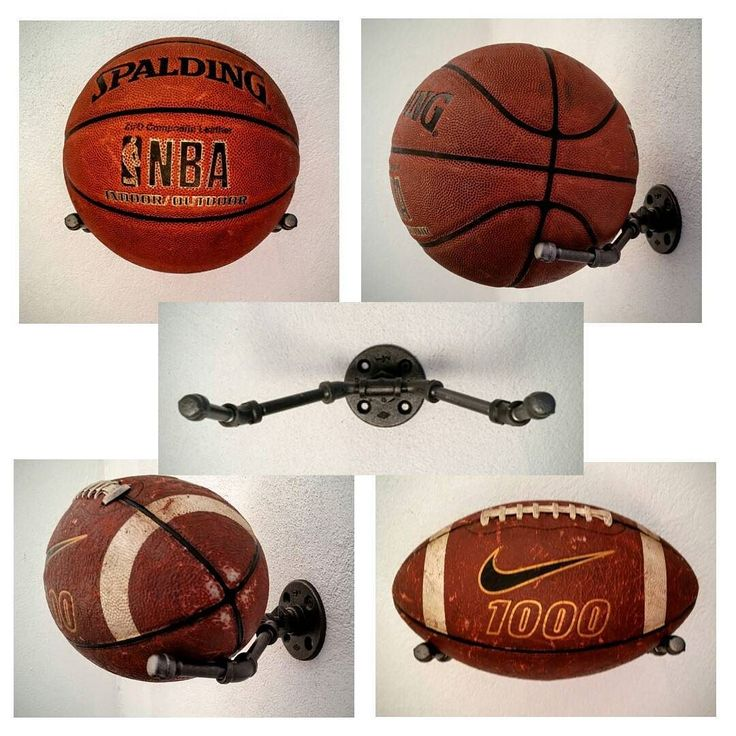 We recently had a customer request a sports ball holder and this is what we came up with. You can place either a basketball or football on the holder. This is a fun stylish way to show off your sports memorabilia. Check it out at locustandplum.com by locustandplum