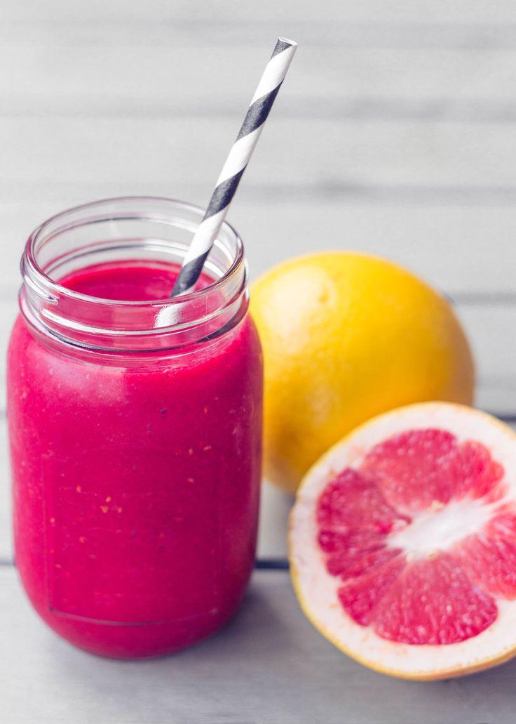gesunder smoothie mit blutorange