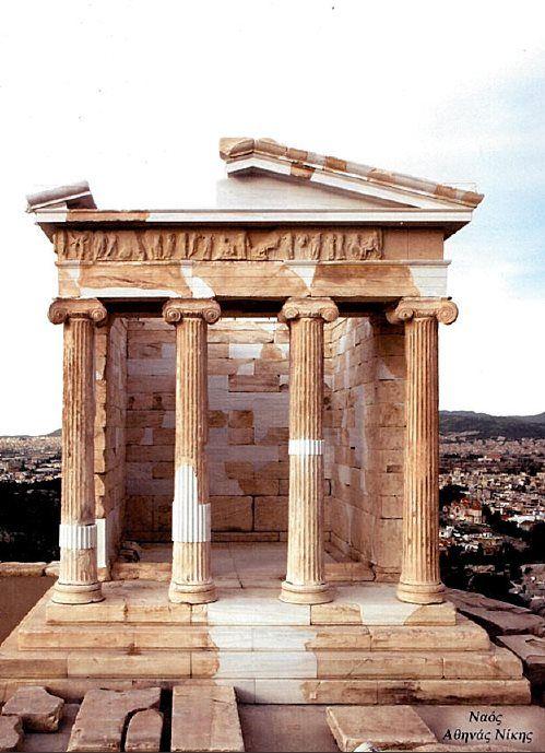 Restoraton of Athina Nike Temple, Athens. Venus Marble