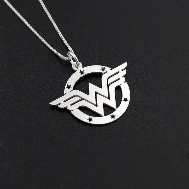 Wonder Woman Necklace delicate sterling silver super hero symbol Diana Prince #Unbranded #Charm