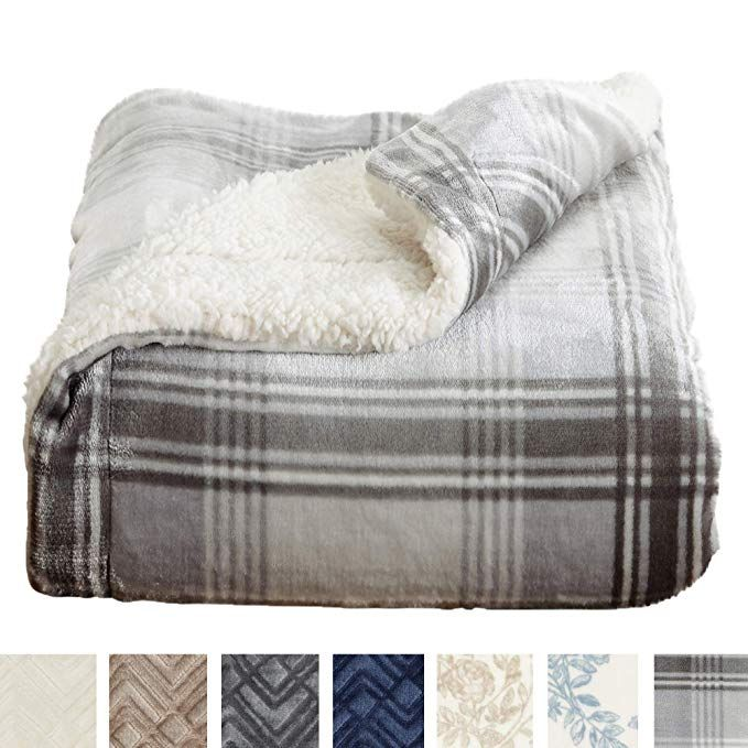 Amazon Com Home Fashion Designs Premium Reversible Sherpa And Sculpted Velvet Plush Luxury Blanket Fuzzy So Plaid Throw Blanket Luxury Blanket Throw Blanket