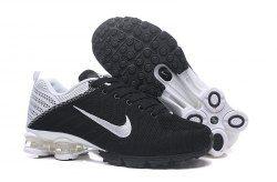 newest f71fc 0fae6 Nike Air Shox Flyknit Black White Shox R4 Men s Athletic Running Shoes