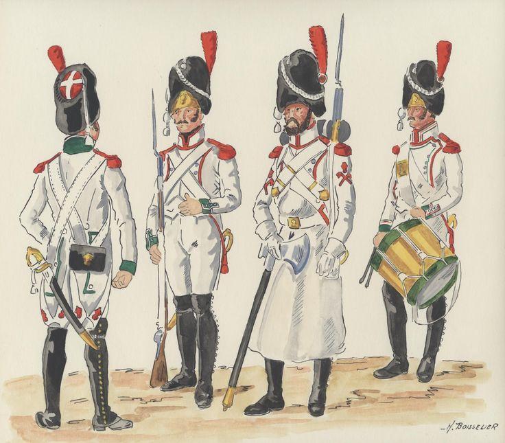 Italy; 1st Line Infantry 1808-09, grenadiers, Sapper & Grenadier Drummer