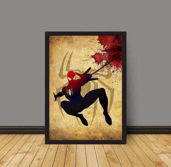 Vintage Spiderman Poster A3 Prints