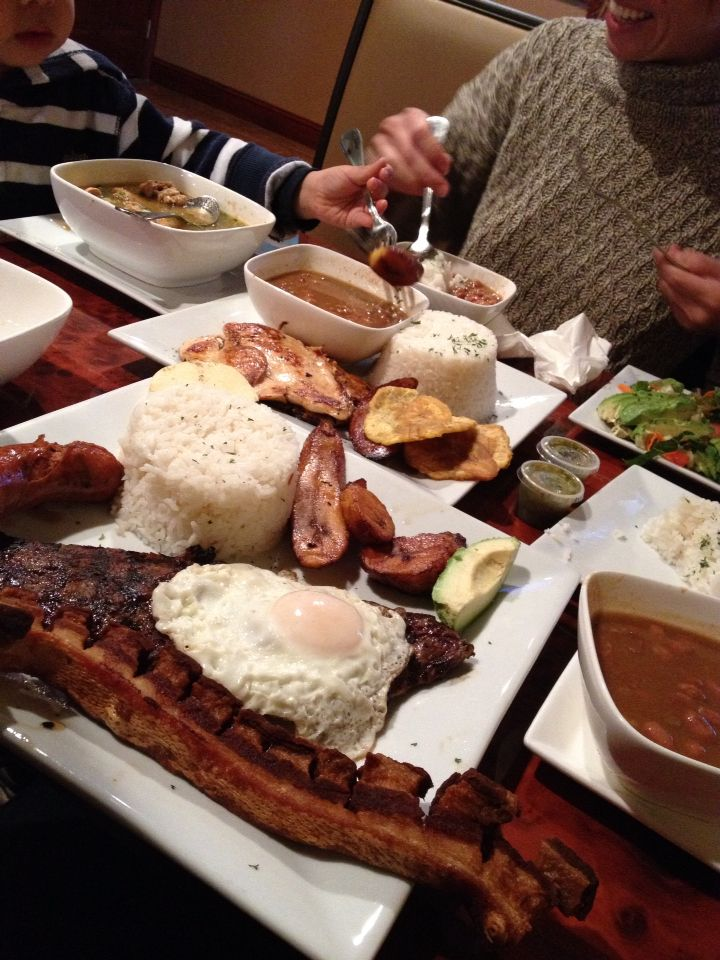 Bandeja Paisa. Colombian food. Mokondo Restaurant. Port