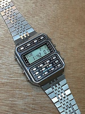 rare vintage casio DATABANK CD-401 calculator watch Made In Japan
