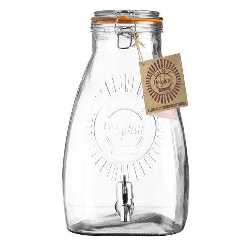 Fontaine à boisson 5L et 8 L distributeur en verre Kilner