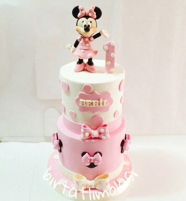 Minnie mouse cake - 1yas pasta