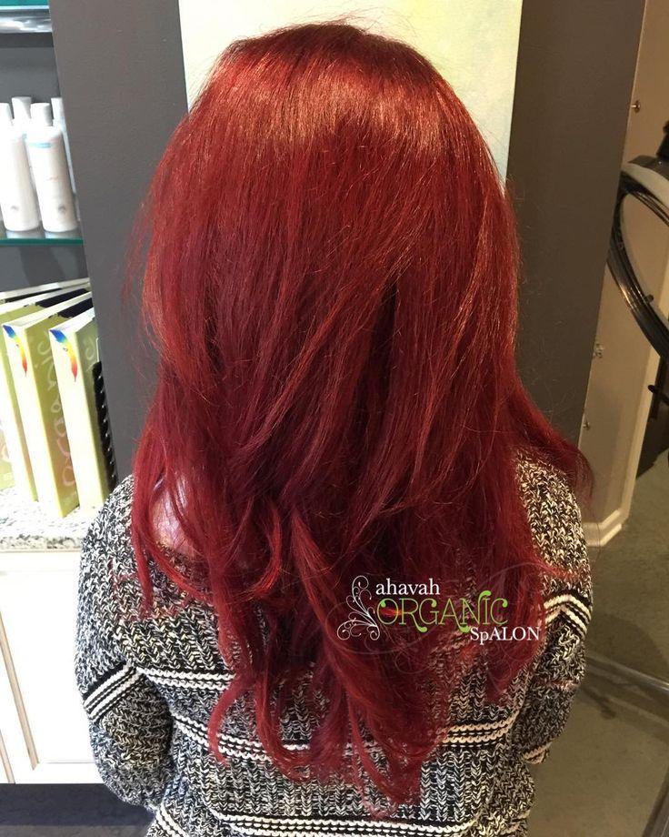 Wow! Gorgeous red by Chloe using the one and only Organic Colour Systems!  . . . .  #ahavahorganicspalon #vegan #crueltyfree #organiccoloursystems #redhair #redhairdontcare #healthyhair #organic #organicsalon #barringtonbeauty #barringtonil #60010 #chicago #btcpics #modernsalon #americansalon #hairbrained #fiidnt #barrington #deerpark #schaumburg #illinois #lookgoodfeelgood