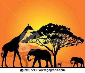 african animals illustration - Bing Images