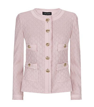 St. John Honeycomb Knit Jacket in Pink available to buy at Harrods. Shop ladies jackets online & earn reward points. Luxury shopping with Free UK Returns.