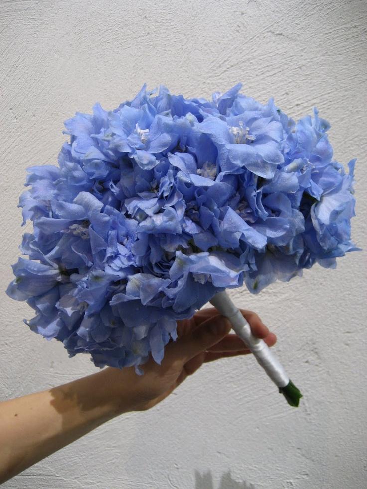 delphinium bouquet @Amanda Bryant