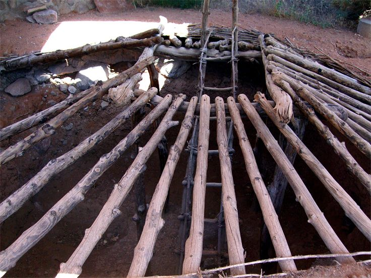 Pictures Of Anasazi State Park Museum, Utah: Timbers In The Replica Roof Of  A Pithouse