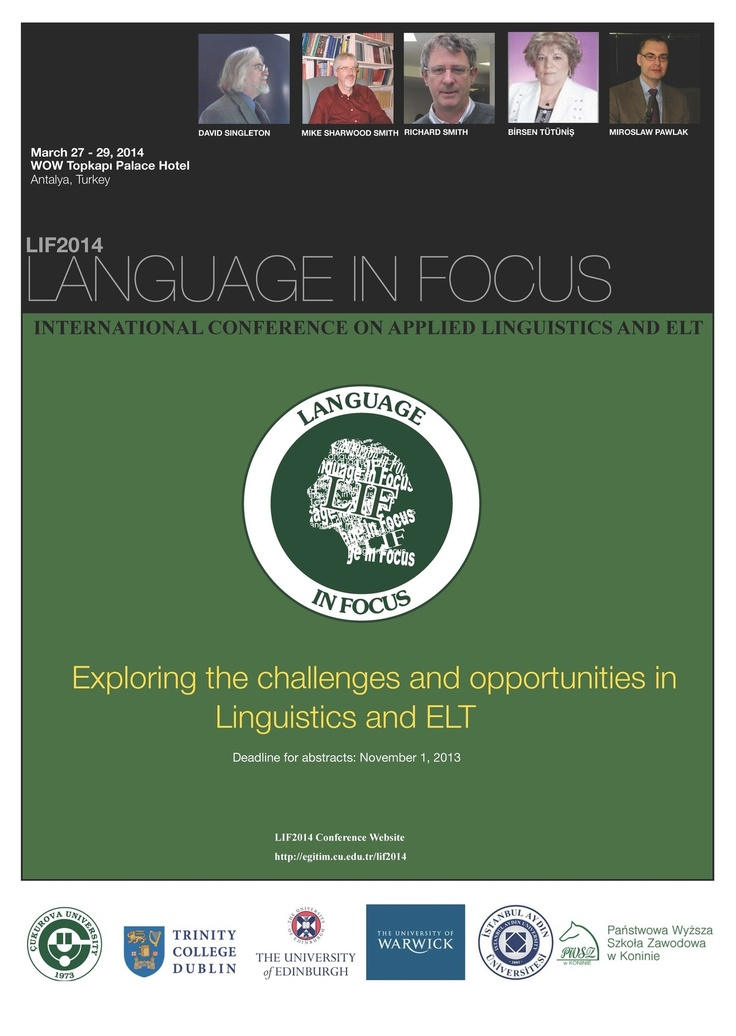 LIF2014 - Language in Focus Conference Poster
