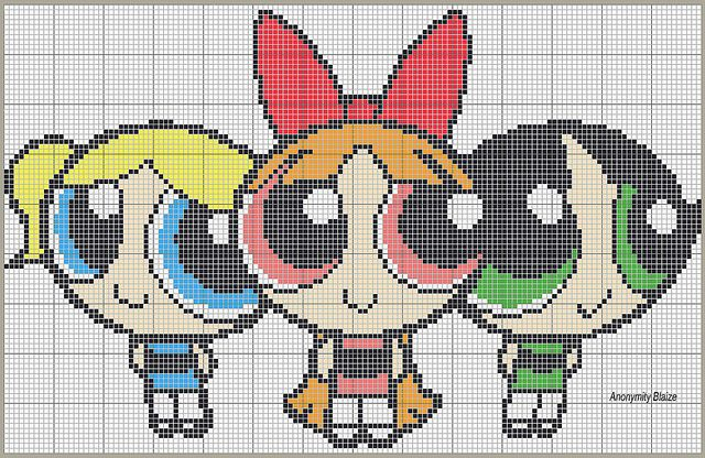 Powerpuff Girls pattern by anonymityblaize, via Flickr