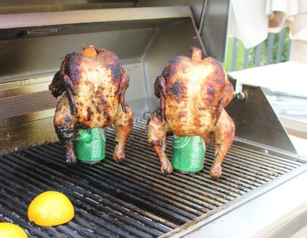 This Beer Can Chicken recipe is so easy and so delicious. If you're in the mood for braai, all you need is a 4 pound chicken, a beer and some of your favorite spices. Fire up the grill and in about an hour and a half you'll have braaied, flavourful chicken falling off the bone.