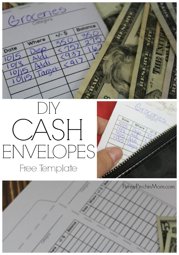 DIY Cash envelope - use this with your cash envelope system when you are trying to get out of debt