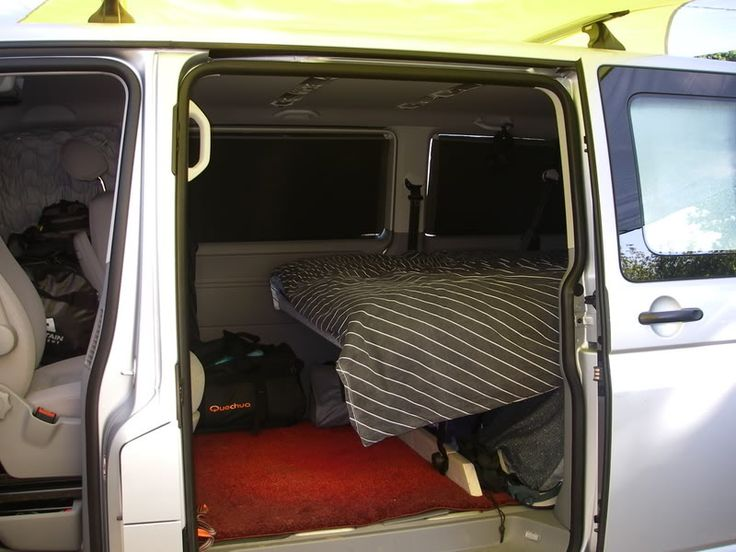 Bed In Shuttle Caravelle Find This Pin And More On Van Conversion Project