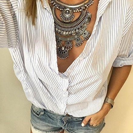 Auffällige Zigeuner-Halskette – #Fashion #Style #…