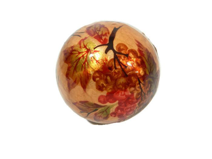 Pier 1 Decorative Sphere Amber Red Brown Leaves Berries Harvest Fall New Pier1imports Leavesberries Decorative Spheres Spheres