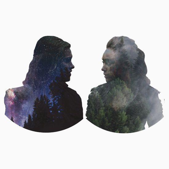 Sky people // Tree people    Clarke // Lexa