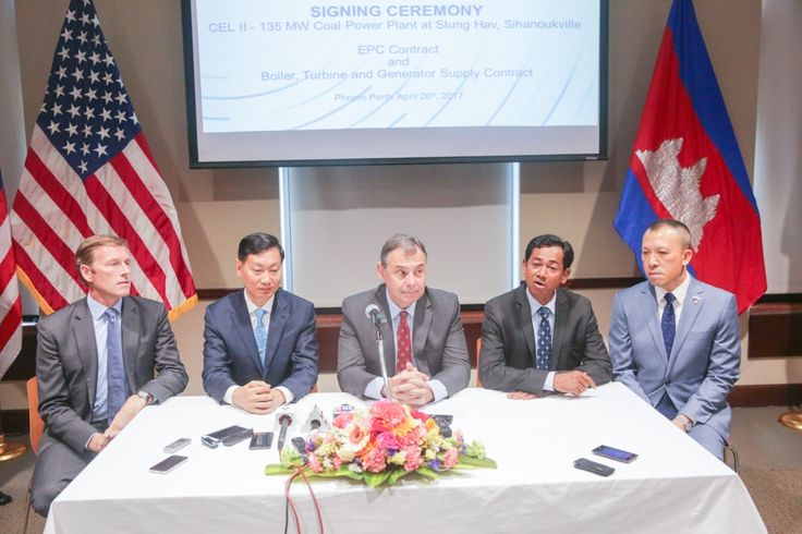 Agreements were signed yesterday for the supply of key components for Cambodia Energy IIs coal-fired power plant in Stung Hav, Sihanoukville province.   General Electric will supply th...