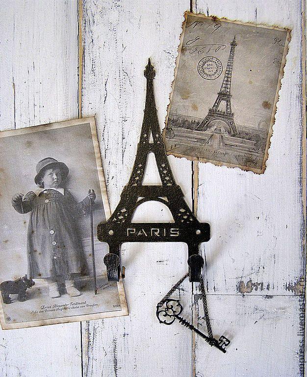 Купить Крючки металлические Париж из серии Мои путешествия - черный, крючки металлические, Париж, вешалка