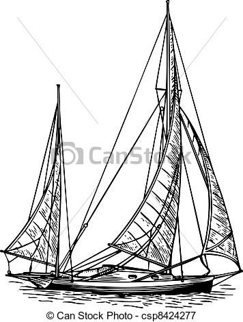 Vector - Sailboat - stock illustration, royalty free illustrations, stock clip art icon, stock clipart icons, logo, line art, EPS picture, pictures, graphic, graphics, drawing, drawings, vector image, artwork, EPS vector art