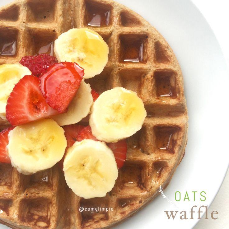 {Receta} Waffles de Avena – Come Limpio