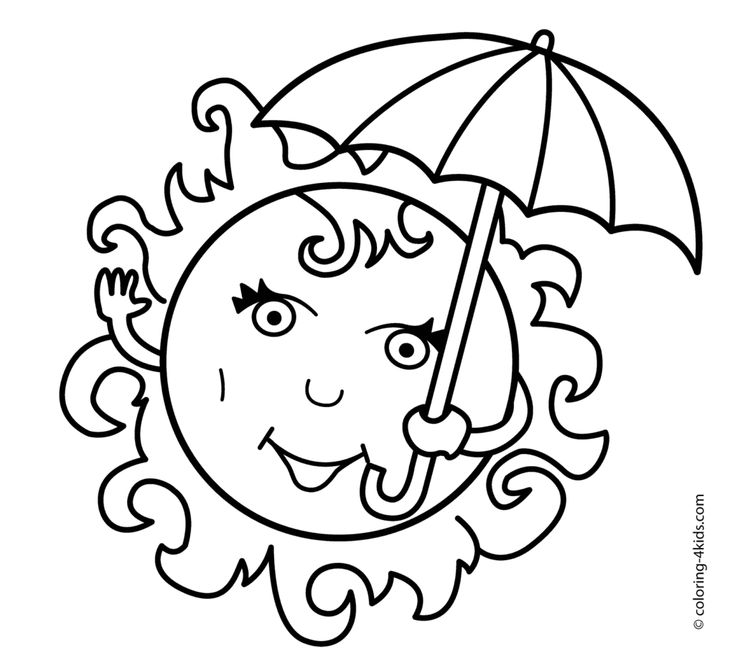 Coloring Pages Summer Season Pictures For Kids Drawing Free Of Clothes