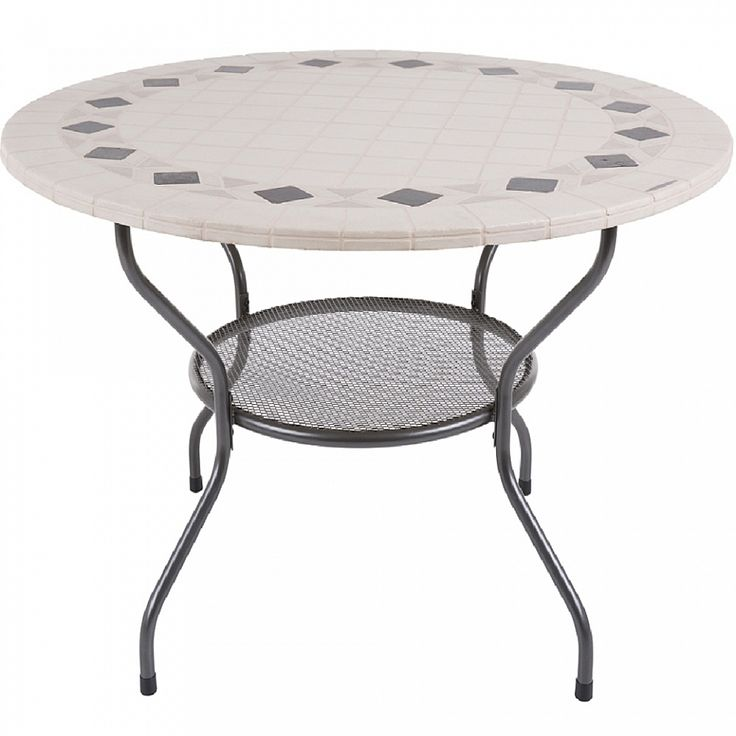 Modern, Contemporary table, made out of metal, perfect for tea parties, easy to move and clean.